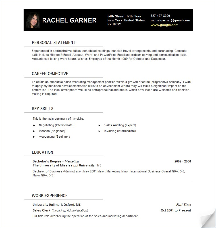 Urban Development Resume Template Timeline Sample Format Word ...