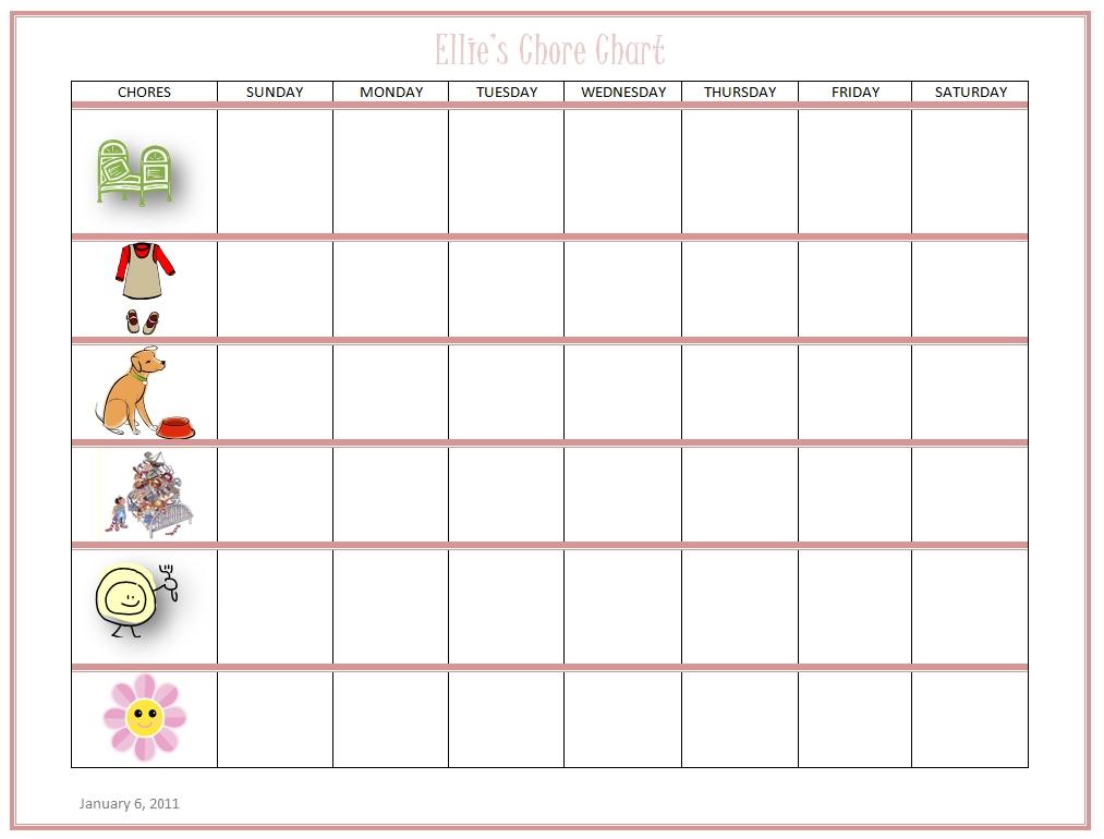 Free Kids Chore Chart