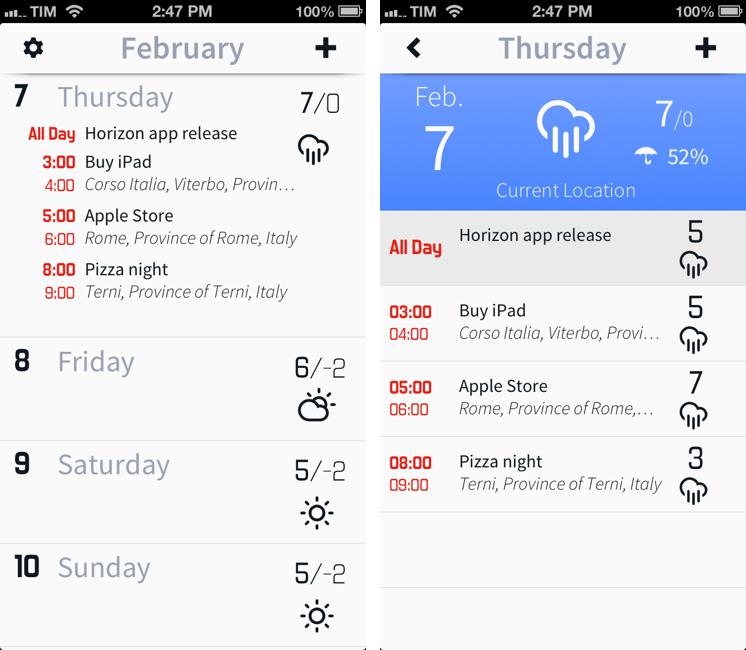 Horizon Integrates Weather With Your Calendar – Macstories
