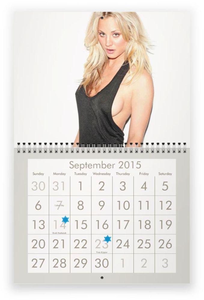 Kaley Cuoco (from The Big Bang Theory) 2015 Wall Calendar