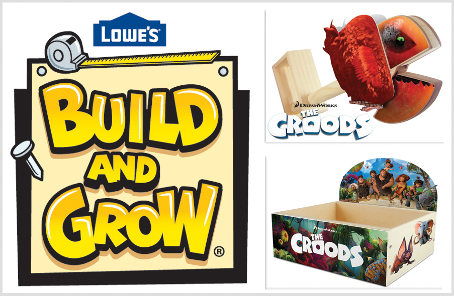 Lowe's Build & Grow Kids' Clinics Featuring The Croods (prize Pack