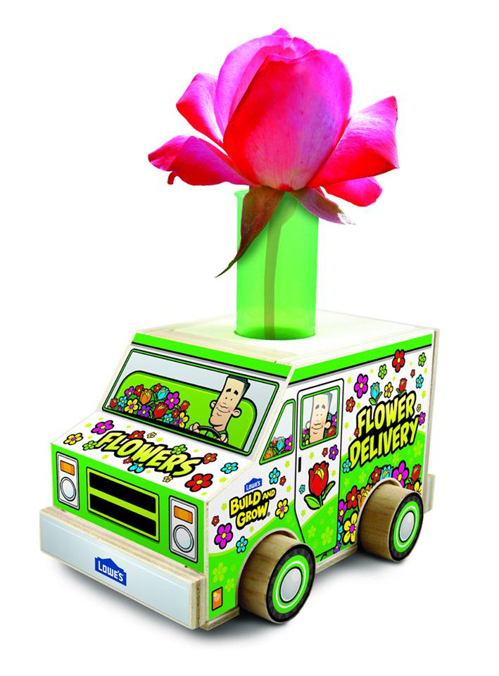 Lowes Build And Grow Free Kid's Clinic ~ Build A Flower Delivery