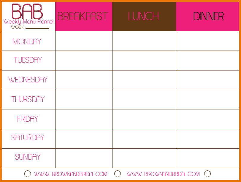 Meal Plan Template Weekly Meal Planner Template Vmtxmoxl Png