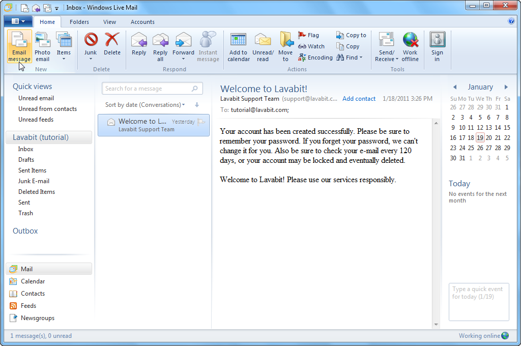 Microsoft Windows Live Mail 2012 Will Not Connect To New Outlook