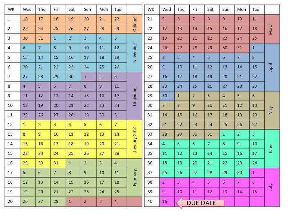 My Pregnant Calendar & Due Date