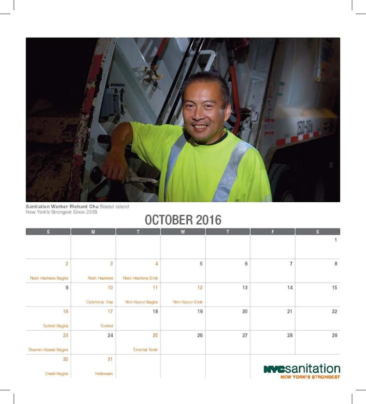 Nyc Sanitation Dept  Workers Get 'glamorous' For Calendar