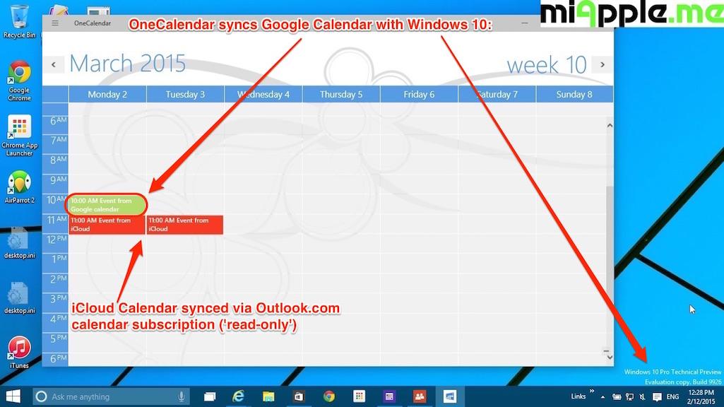 Onecalendar Syncs Google Calendars With Windows 10