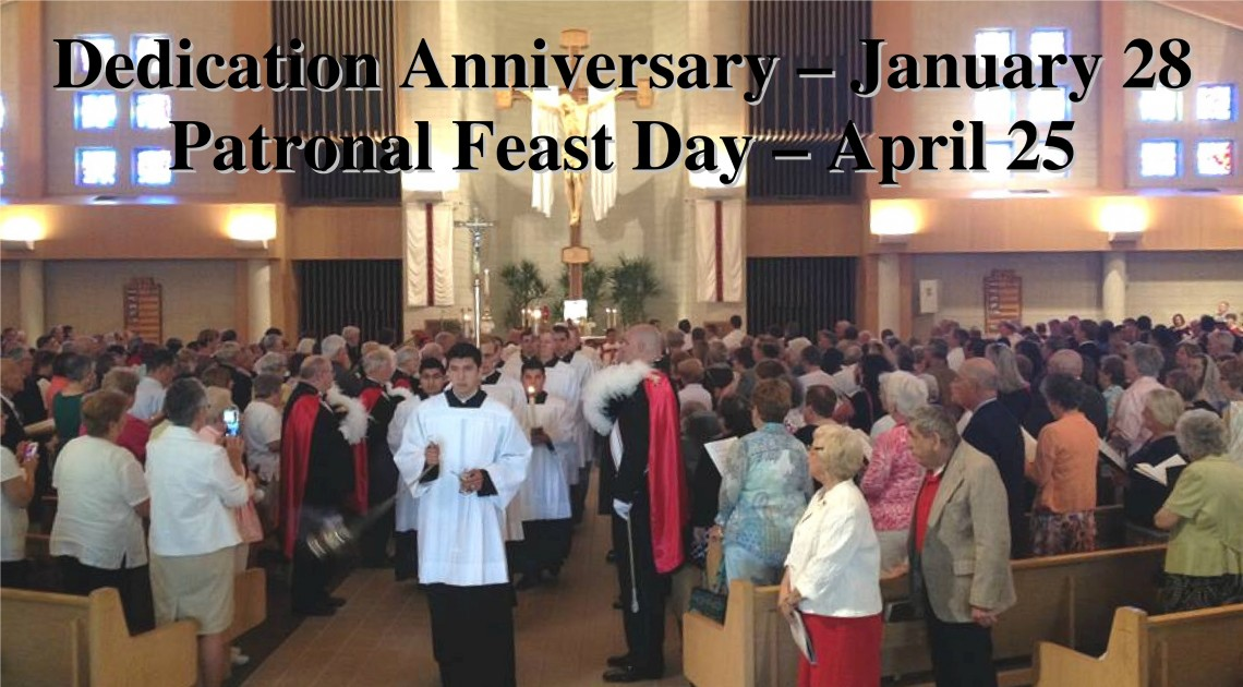 Save The Dates For Our Parish Anniversary And Feast Day!