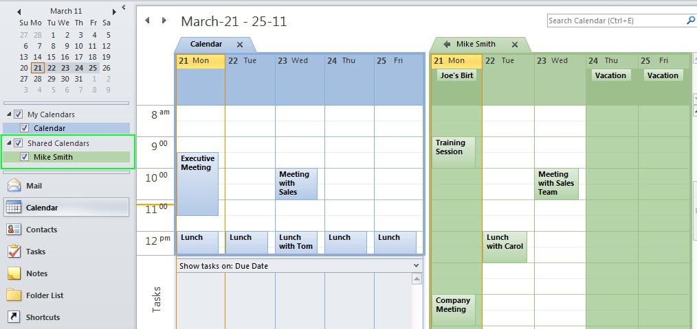 Shared Calendar Microsoft Exchange