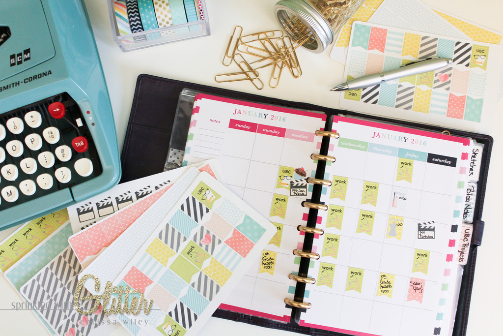 Sprinkled With Glitter  Create Your Own Custom Planner Stickers
