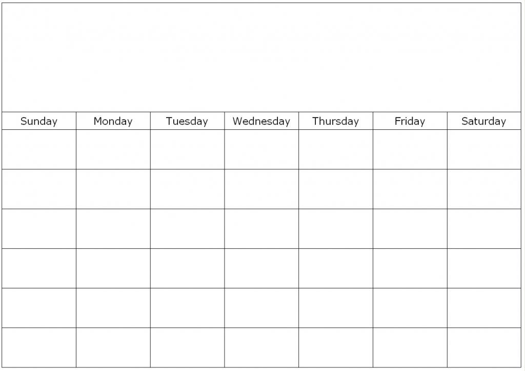 The Fill In Calendar Template