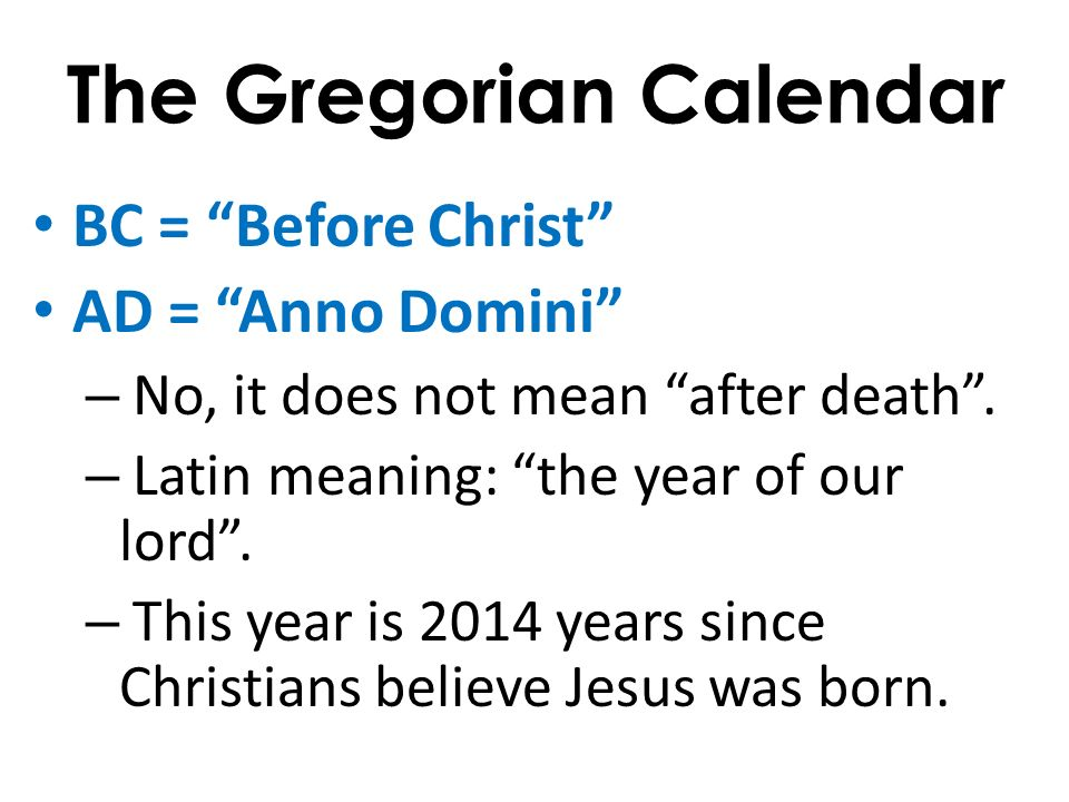 Using Timelines To Understand History  The Gregorian Calendar