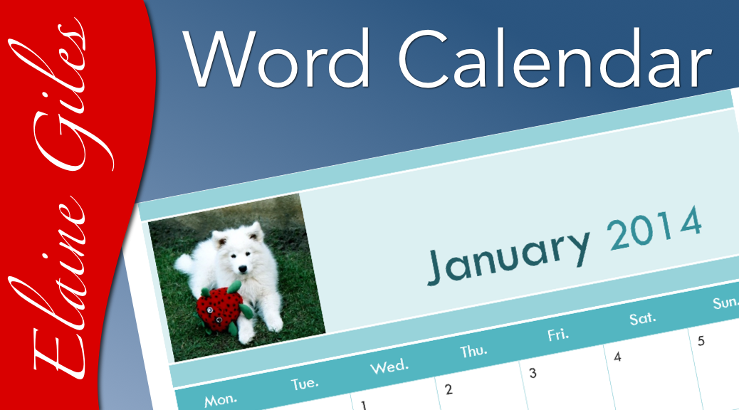 Video  Making A Calendar With Word