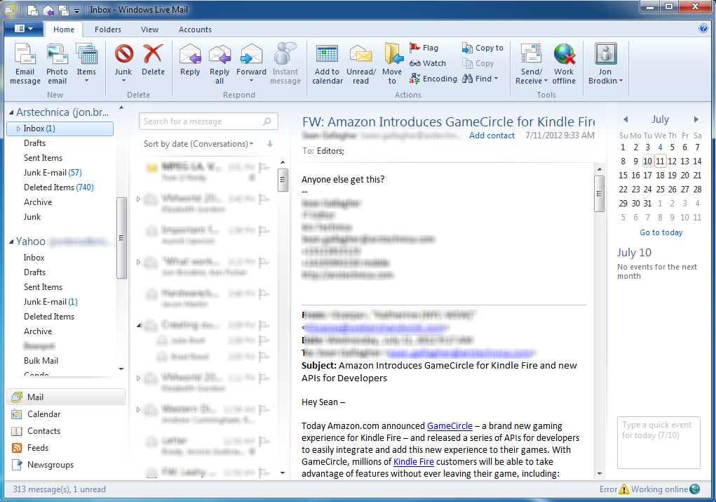 Windows 8 Mail Leaves Users Pining For The Desktop—or Even Their