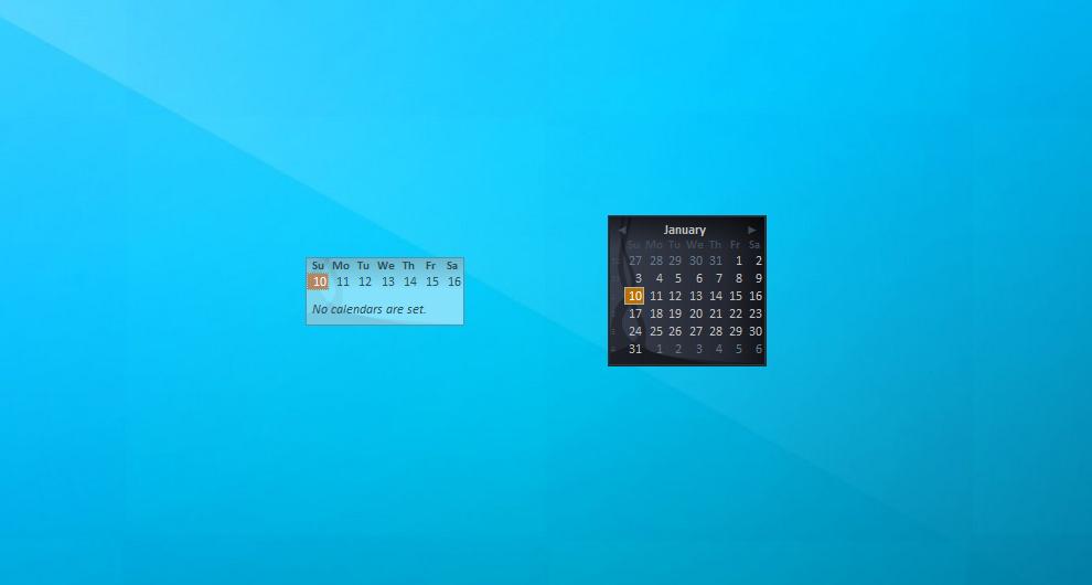 Windows Live Calendar Gadget For Windows 7 8 10