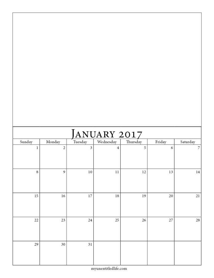 Make your own calendar printable calendar template 2018 for Create your own planner online