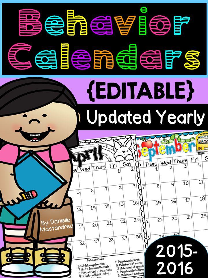 1000+ Ideas About Monthly Behavior Calendar On Pinterest