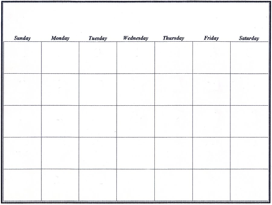 10 Best Images Of Blank Weekly Schedule Chart