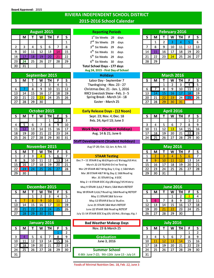 Back To School Calendars And Supply Lists