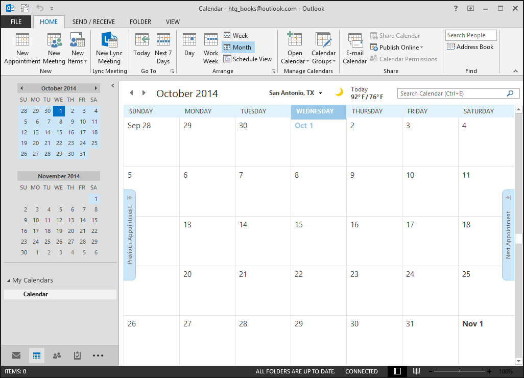 Beginner  How To Create, Manage, And Share Calendars In Outlook 2013