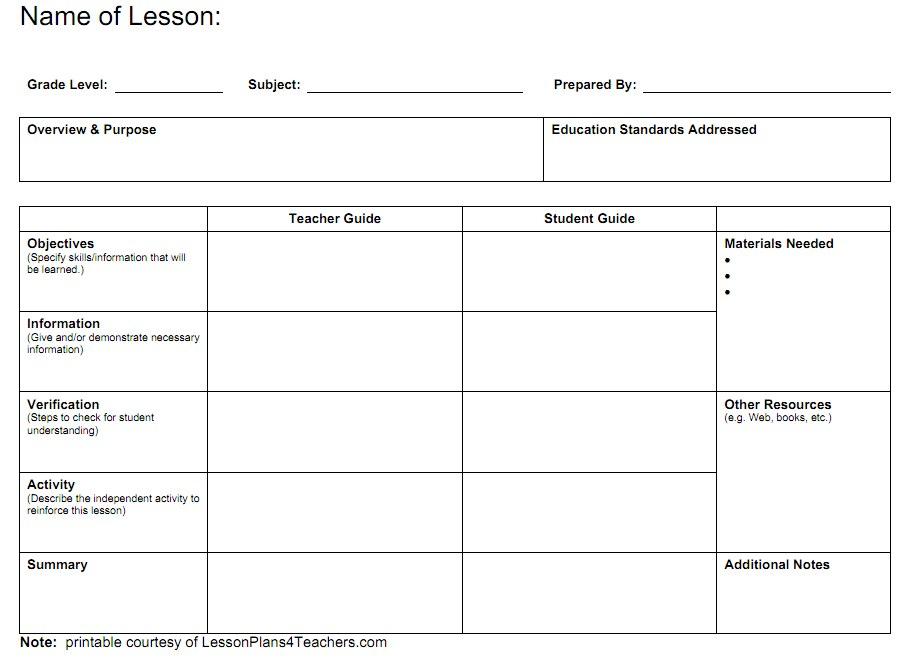 Lesson Plan Calendar Template » Calendar Template 2017