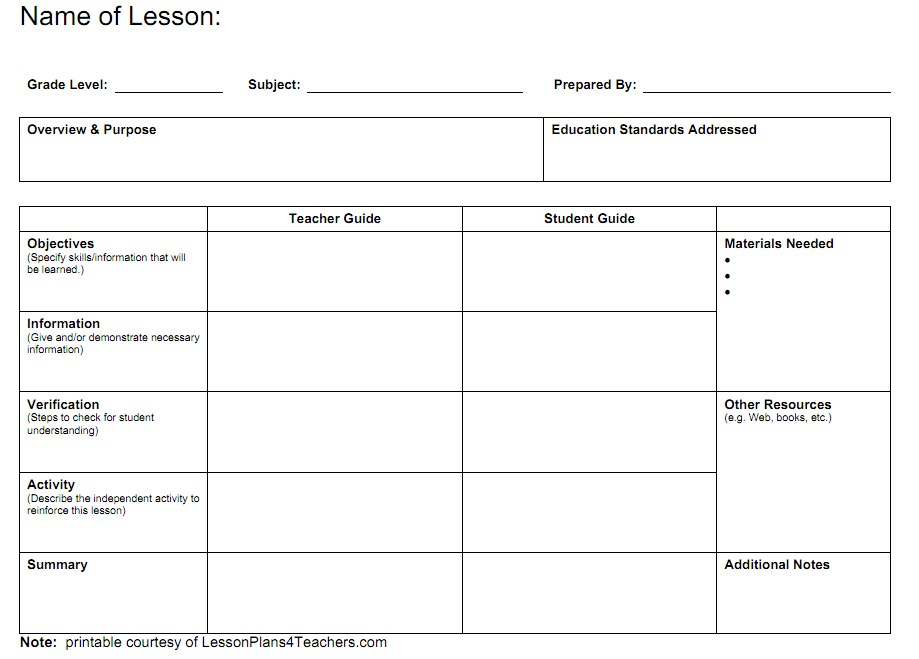 Best Photos Of Calendar Lesson Plan Template