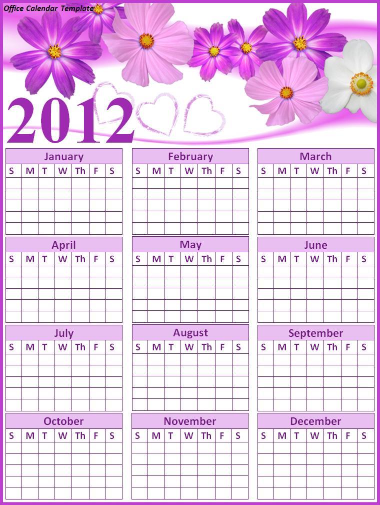 Best Photos Of Office Calendar Template