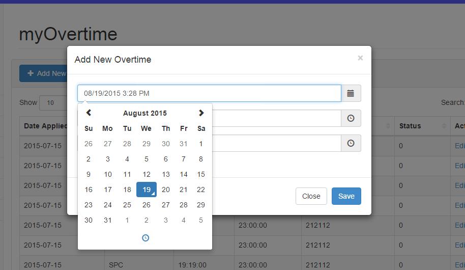 Calendar Date Picker Php Code