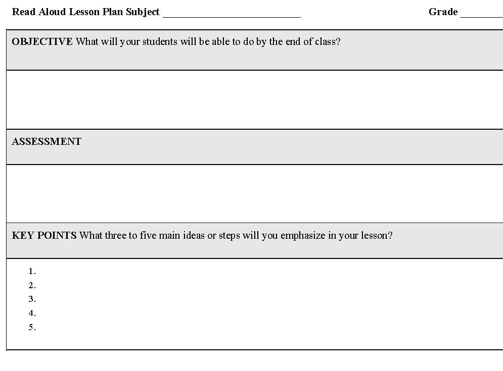 Calendar Template For Lesson Planning