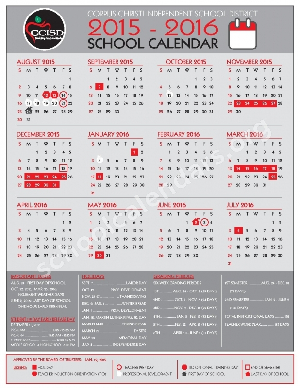Clear Creek Isd 2015 2016 Calendar