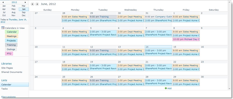 Color Code Sharepoint Calendar