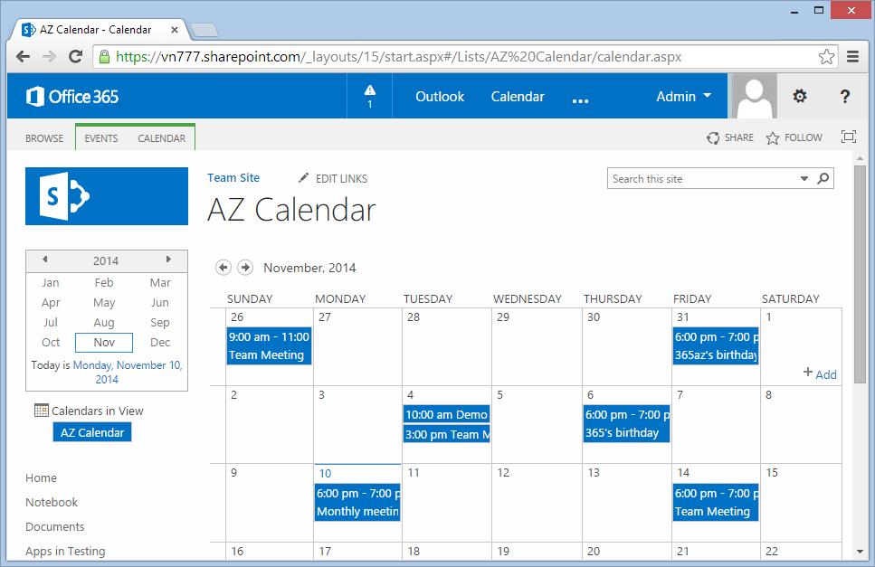 Color Code Sharepoint Calendar ~ Sharepoint 365