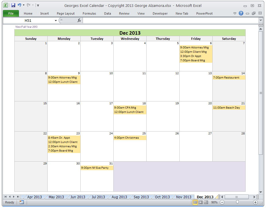 Create Calendar Event From Excel