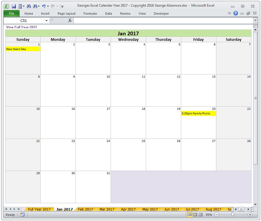 Create your own calendar calendar template 2018 for Make my own calendar template