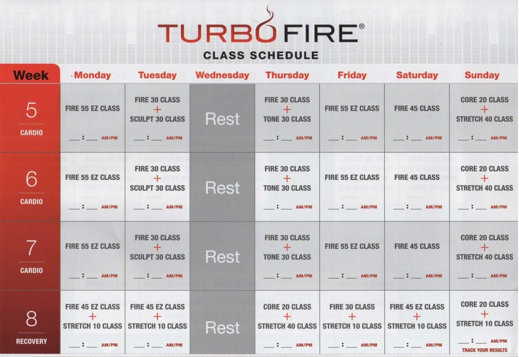 Dance The Pounds Away With The Turbo Fire Schedule