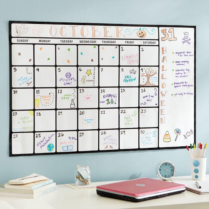 Dry Erase Calendar Canada : Dry erase wall calendars calendar template