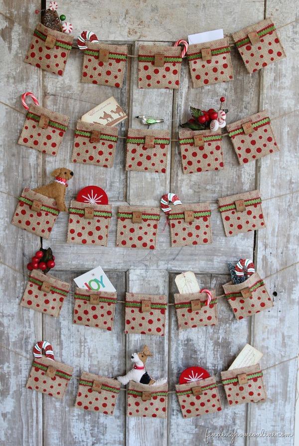 Easy No Sew Burlap Advent Calendar