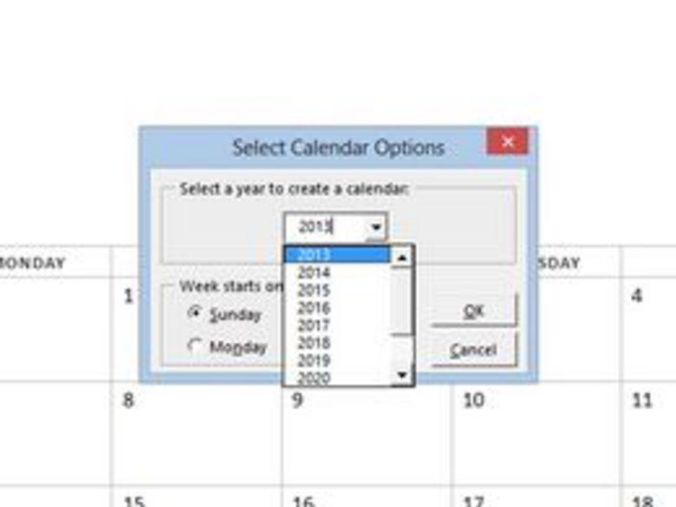 How To Insert Calendar In Excel 2013 Drop Down Menu