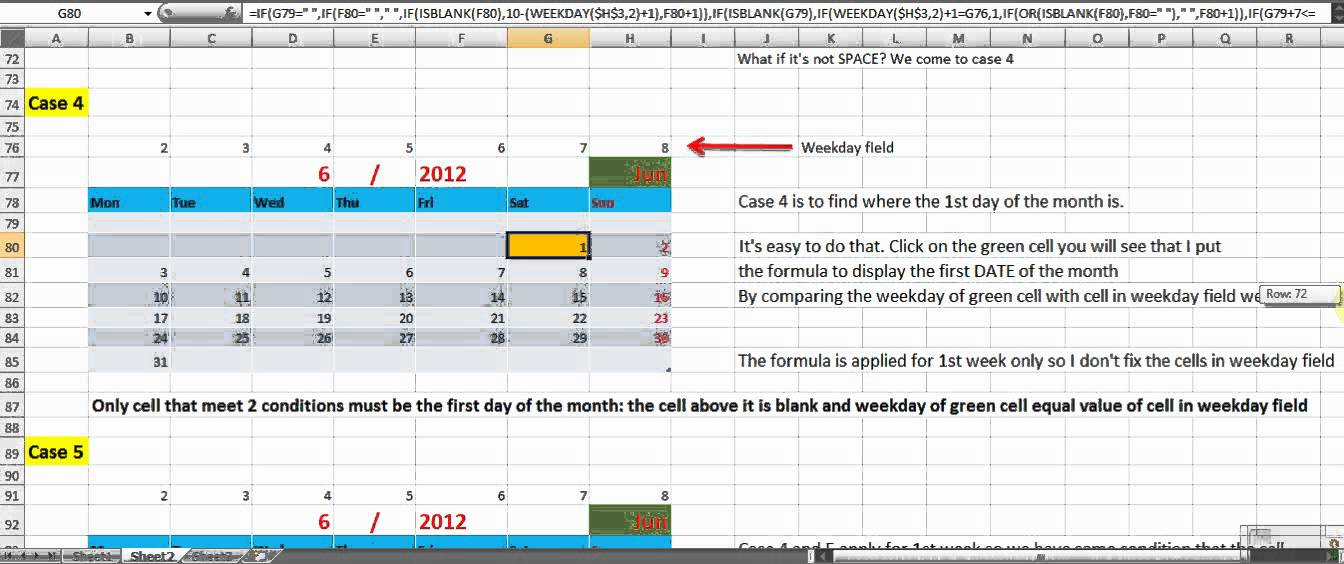 How To Make Perpetual Calendar Using Formula In Excel 2007