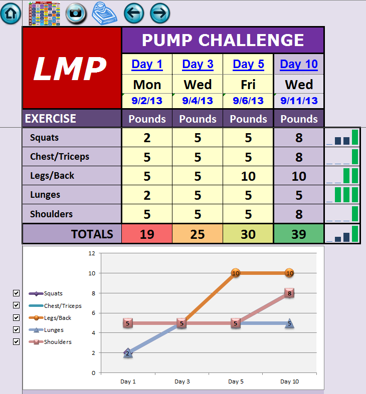 Les Mills Pump Â« Excel Workout Tools