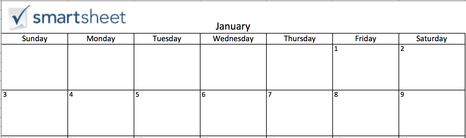 making a calendar in excel