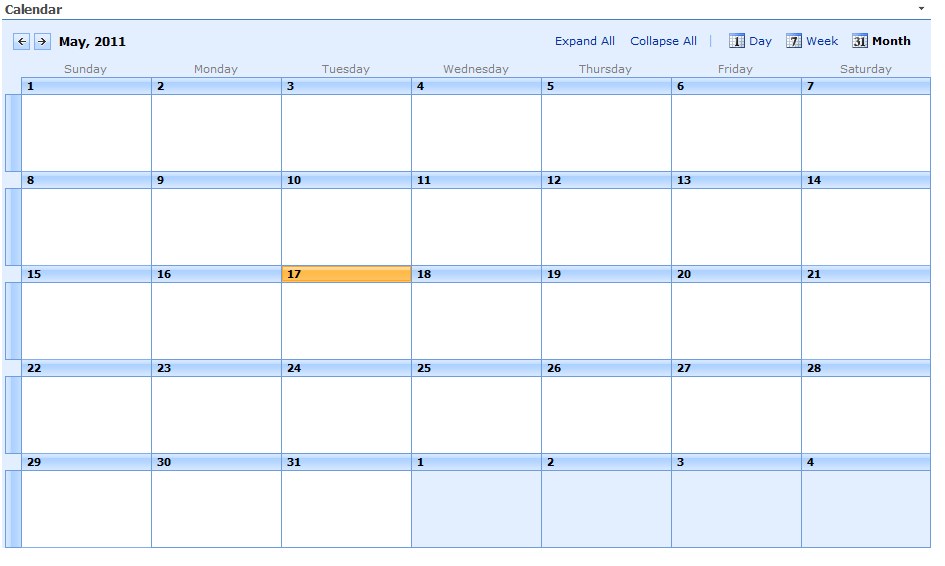 Make A Calendar Appear Small On My Sharepoint 2007 Page