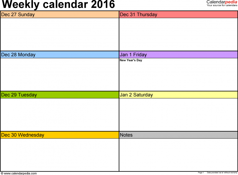 Make Your Own Weekly Calendar Printable Appointment Calendars