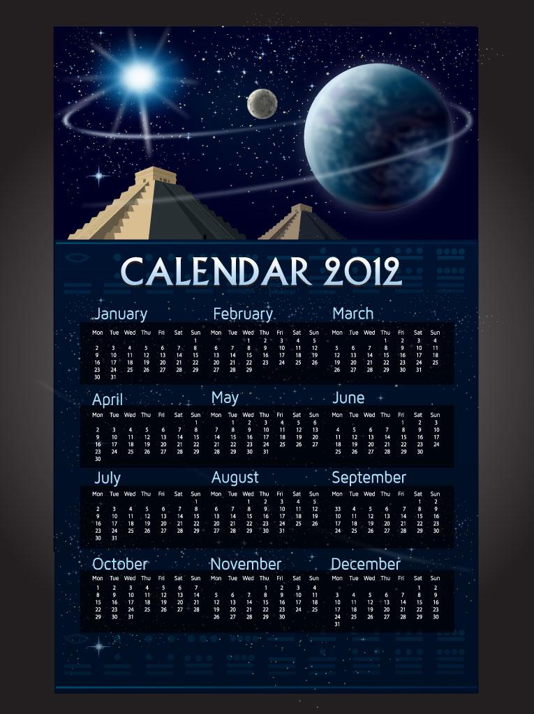 Mayan Calendar Vector Vector Art & Graphics