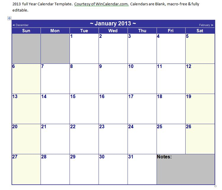 Microsoft Word Calendar Templatebest Business Templates
