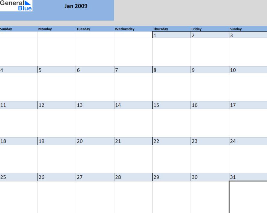 Monthly Calendar Customizable : Month calendar template