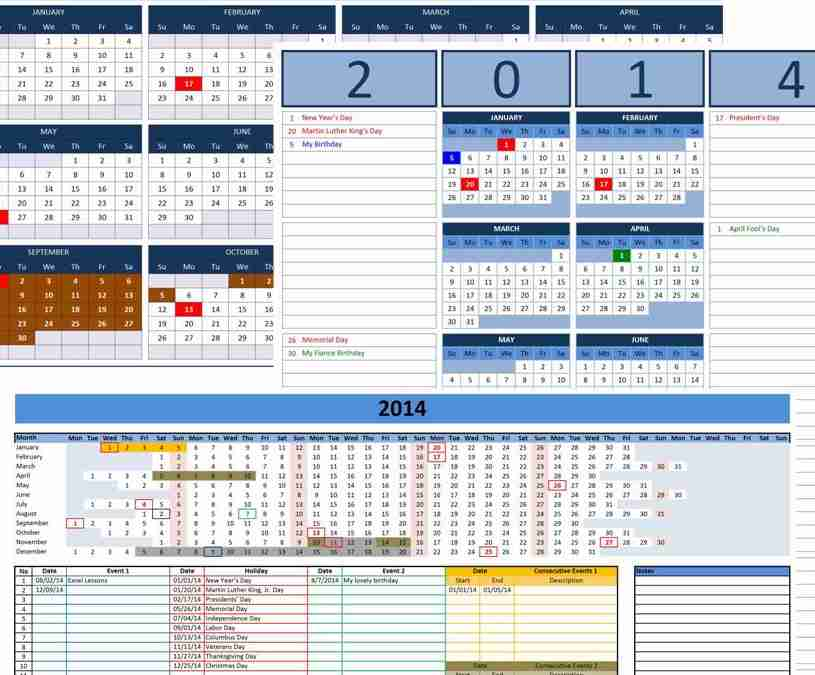 Office Calendar Templates  KakTakTk