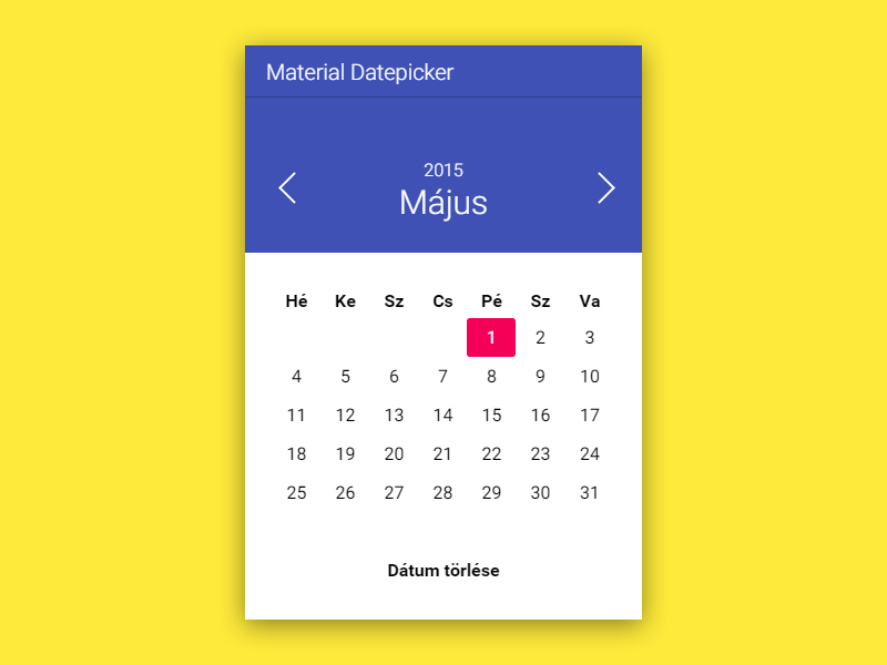 My Material Datepicker – Materialup