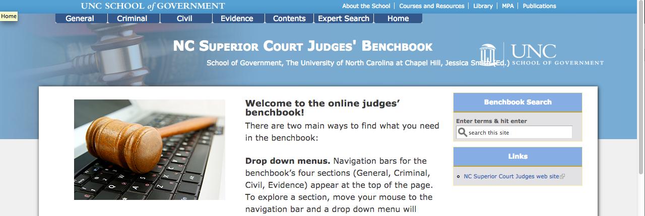 Nc Superior Court Judges' Benchbook