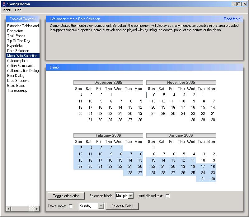 Paint A Calendar   Calendar Â« Swing Components Â« Java